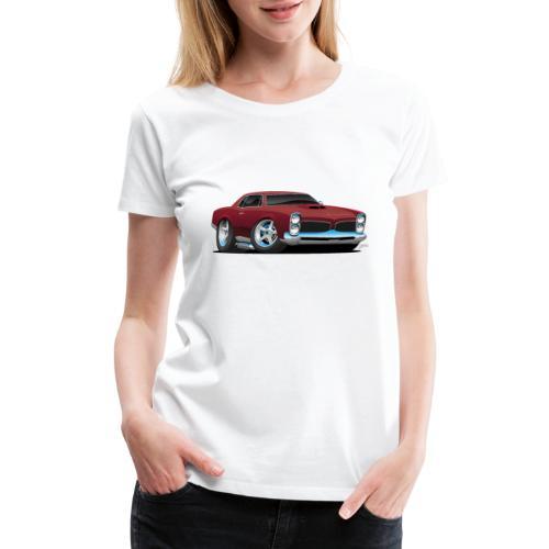 Classic American Muscle Car Cartoon - Women's Premium T-Shirt