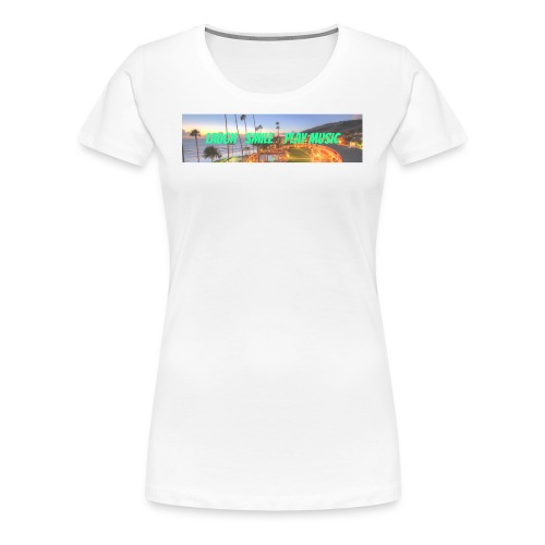 Laugh, Smile, play music clothing line - Women's Premium T-Shirt