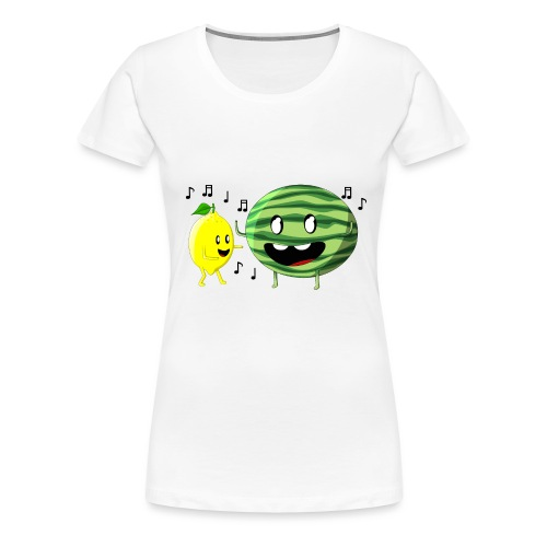Dancing Lemon and Watermelon - Women's Premium T-Shirt