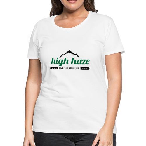 High Haze Logo (High Contrast) - Women's Premium T-Shirt