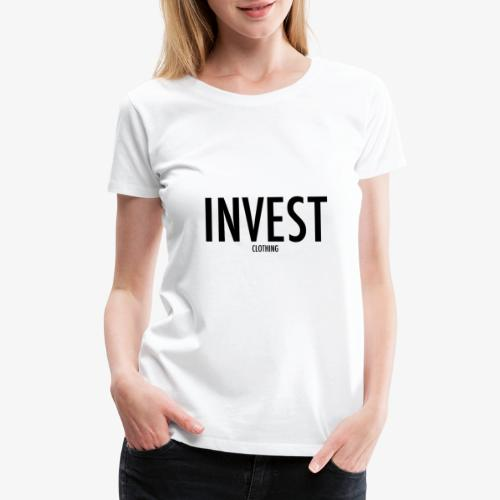 invest clothing black text - Women's Premium T-Shirt