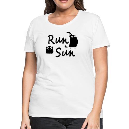 Run Sun Logo - Women's Premium T-Shirt