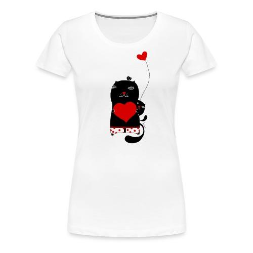 Cats w Hearts Kristina S - Women's Premium T-Shirt