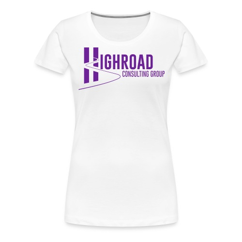 Highroad Logo Overlay Purple - Women's Premium T-Shirt