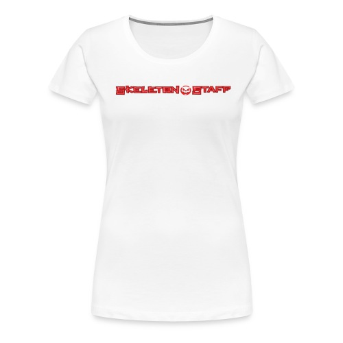 SKELETON STAFF WHITE SHIRT - Women's Premium T-Shirt