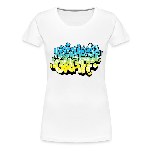 LAWE/SUB53 Design for New York Graffiti Color Logo - Women's Premium T-Shirt