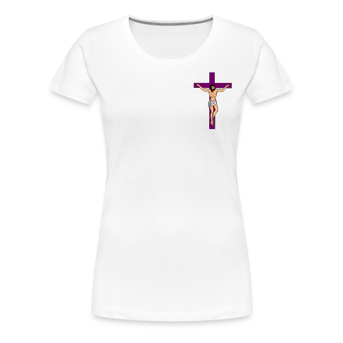 Purple Cross - Women's Premium T-Shirt