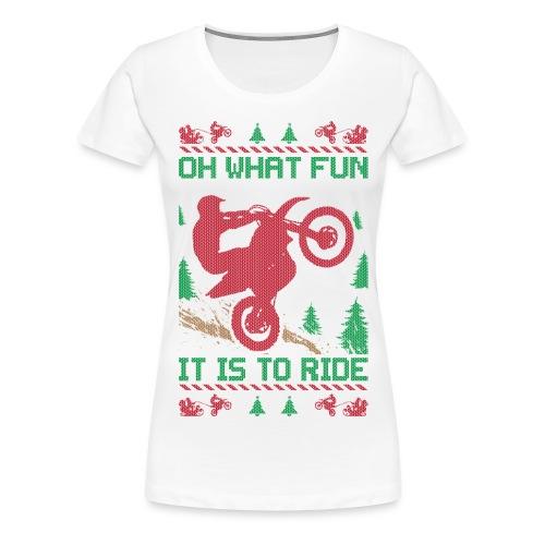 Supercross Moto Christmas - Women's Premium T-Shirt