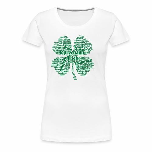 Shamrock Word Cloud - Women's Premium T-Shirt