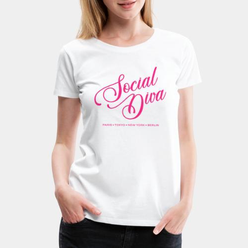 social fashion diva style - Women's Premium T-Shirt