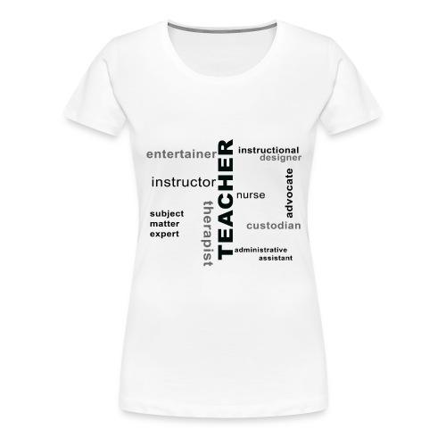 teacher wordle png - Women's Premium T-Shirt