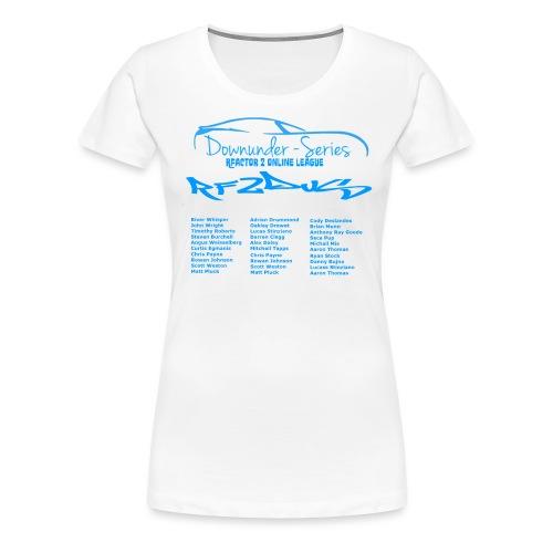 rf2dus with name - Women's Premium T-Shirt