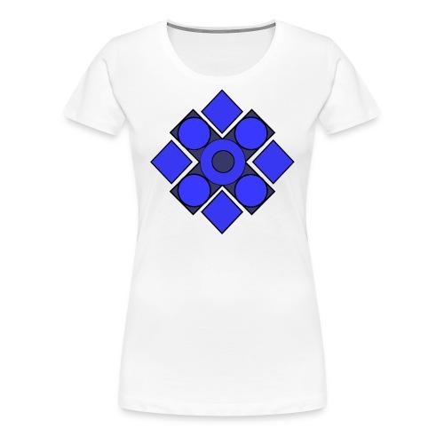 Geometric Cerulean - Women's Premium T-Shirt