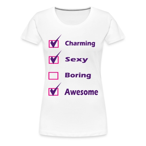 Self Check - Charming, Sexy, Awesome - Women's Premium T-Shirt
