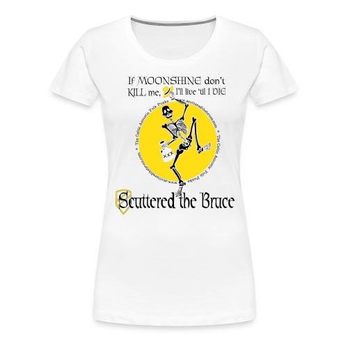 moonshineblackfontmediumrecolor - Women's Premium T-Shirt