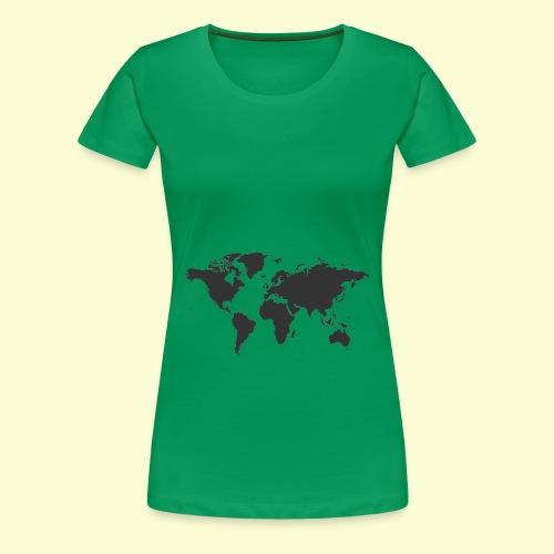 map of the world - Women's Premium T-Shirt