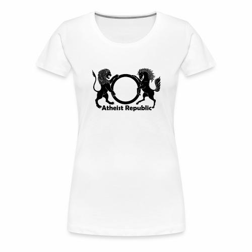 Atheist Republic Logo - Black - Women's Premium T-Shirt
