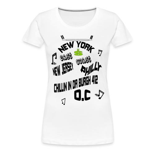 A170455+East+Coast_rev+3+ - Women's Premium T-Shirt