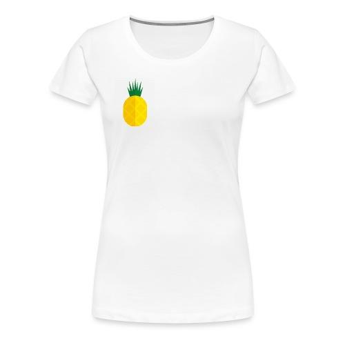 Pixel looking Pineapple - Women's Premium T-Shirt