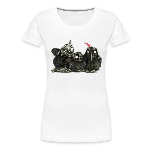 Three Young Crows - Women's Premium T-Shirt