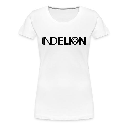 IndieLion textlogo black png - Women's Premium T-Shirt