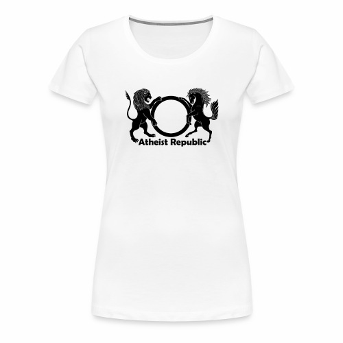 Atheist Republic Logo - Black - Women's Premium T-Shirt