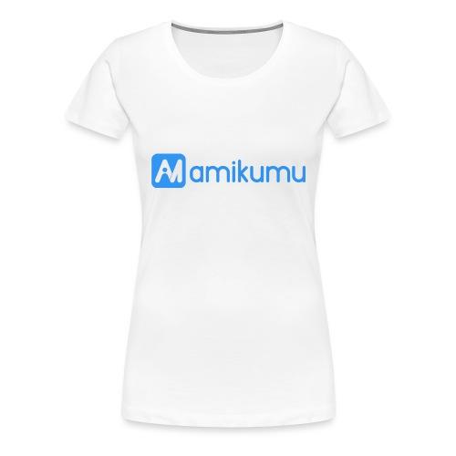 Amikumu Logo Blue - Women's Premium T-Shirt