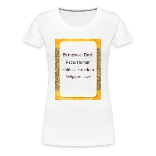 Earth Human Freedom Love - Women's Premium T-Shirt