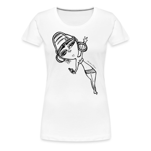 Day drunk girl - Women's Premium T-Shirt