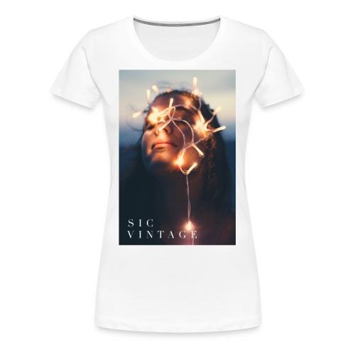 SicVintage Beauty in the Lignts - Women's Premium T-Shirt
