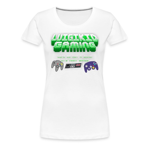 Luigikid gaming life is not a game controllerlogo - Women's Premium T-Shirt