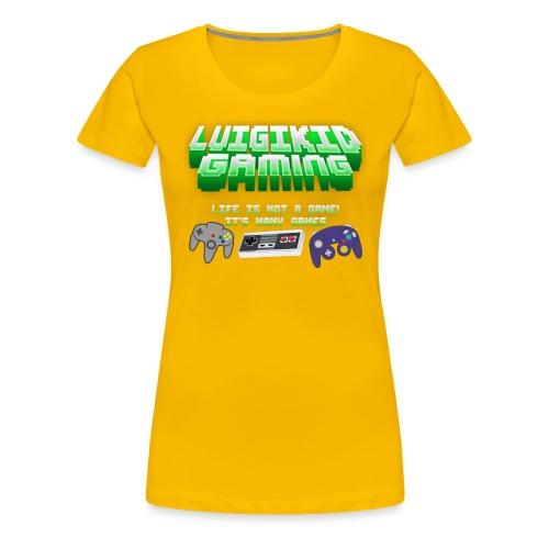 Luigikid gaming life is not a game controllerlogo - Women's Premium T-Shirt