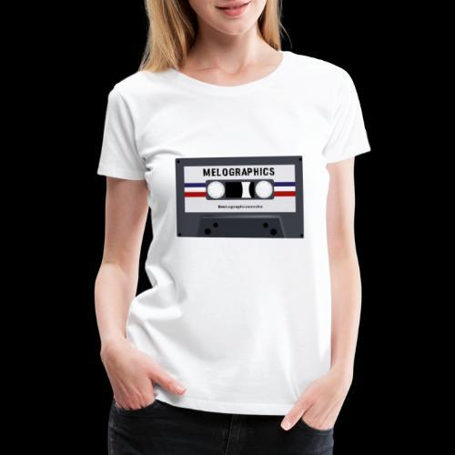 Retro Cassette #melographicsrocks - Women's Premium T-Shirt
