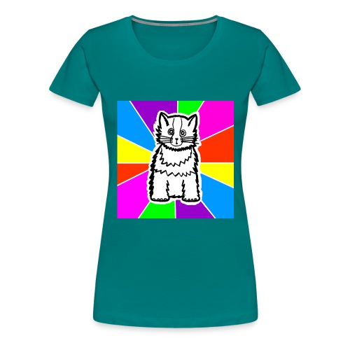 cat shirt wednesday - Women's Premium T-Shirt