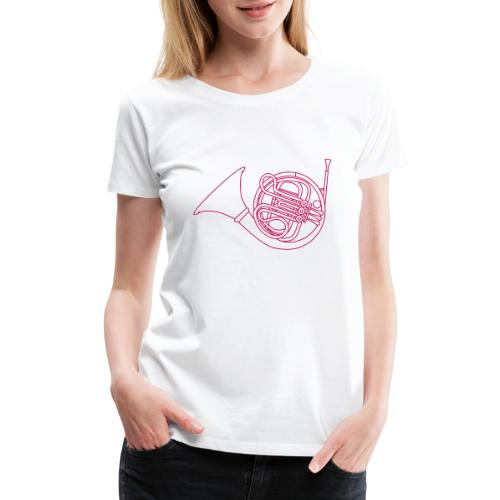French horn brass - Women's Premium T-Shirt