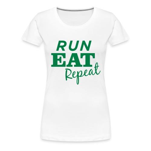 Run Eat Repeat buttons medium - Women's Premium T-Shirt