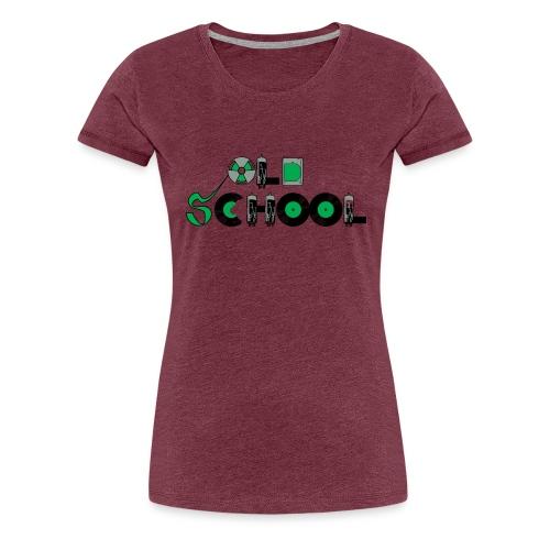 Old School Music - Women's Premium T-Shirt