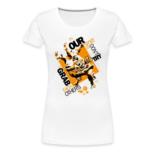 Judo Grab Design for white shirts - Women's Premium T-Shirt
