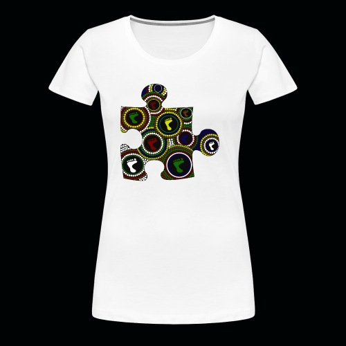 Dot painting puzzle - Women's Premium T-Shirt