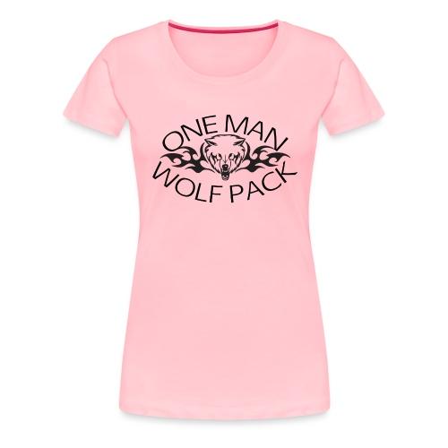 One Man Wolf Pack - Design - Women's Premium T-Shirt