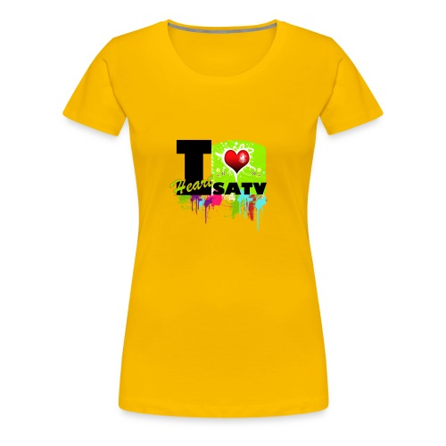 I Love SATV - Women's Premium T-Shirt