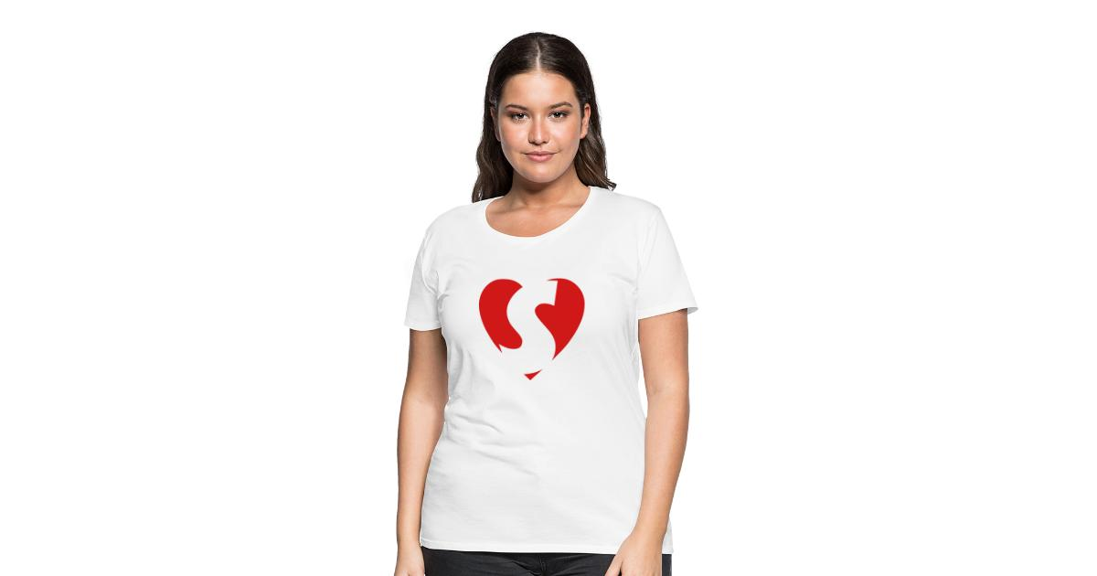 I Love Hearts McSteamy Ladies Fitted T-Shirt