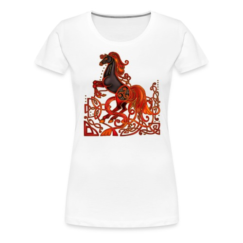 Celtic Horse Night Mare - Women's Premium T-Shirt