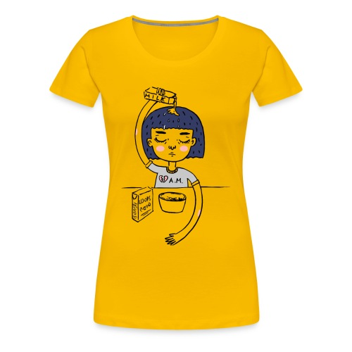 Milk and cereals in the morning - Women's Premium T-Shirt