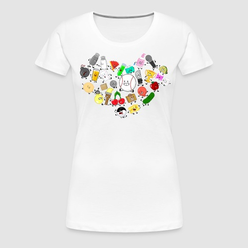 Inanimate Heart Color - Women's Premium T-Shirt