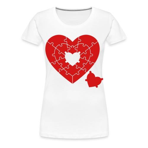 Heart Puzzle - Women's Premium T-Shirt