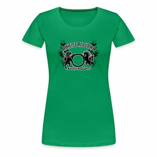 Atheist Republic Logo - Shooting Stars - Women's Premium T-Shirt