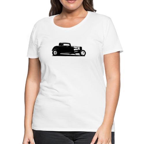 Classic American Thirties Hot Rod Car Silhouette - Women's Premium T-Shirt