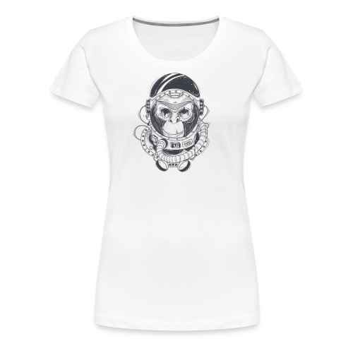 Space Chimp is Awesome - Women's Premium T-Shirt