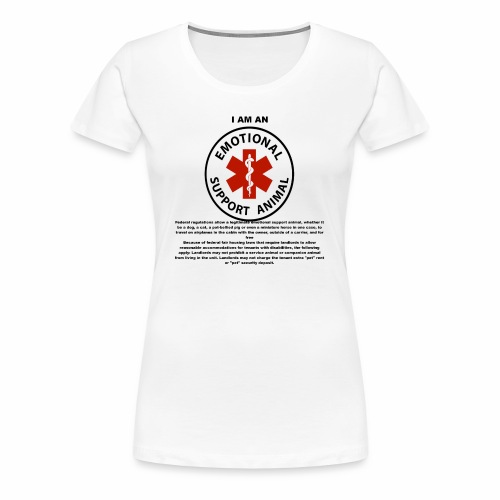 emotional support animal - Women's Premium T-Shirt